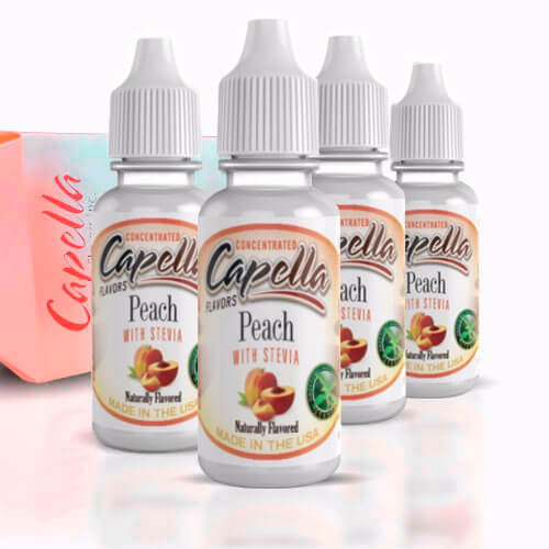 Alquímia Vapeo aroma Capella Peach Stevia